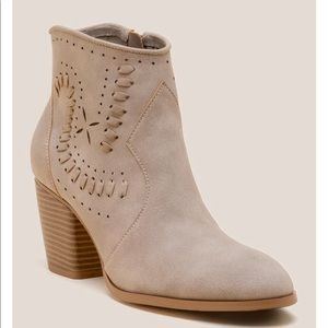 Restricted Taupe HighRise Ankle Boots